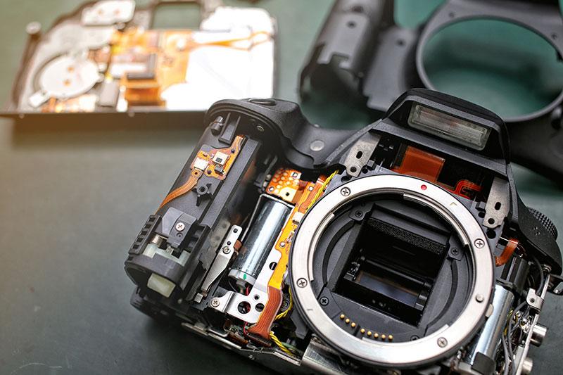 réparer une panne sur un appareil photo