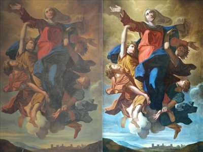 Exemple de restauration de tableau ancien n°1281 à Chantilly par Atelier Nolde