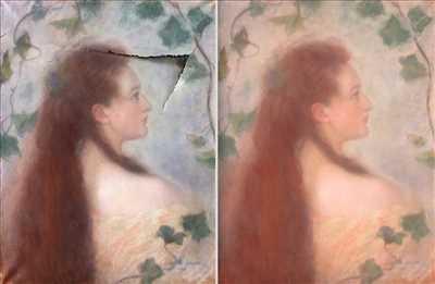 Photo de restauration de tableau n°1282 à Chantilly par le réparateur Atelier Nolde
