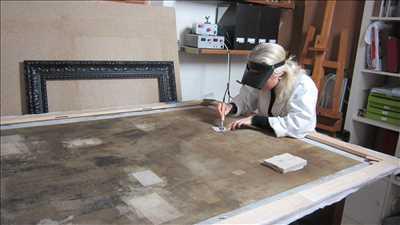 Photo de restauration de tableau ancien n°1283 dans le département 60 par Atelier Nolde