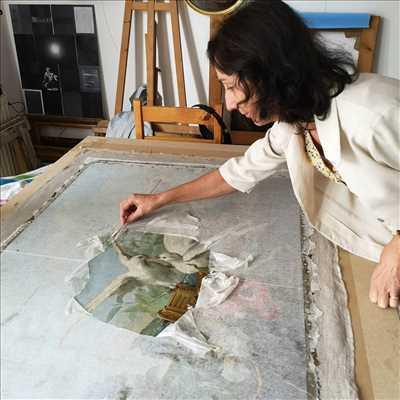 Photo de restauration de tableau n°1788 à Lyon par Atelier Pascale ingold