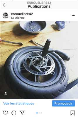 Photo de réparation de trottinette électrique n°1850 à Saint-Etienne par le réparateur En roue libre
