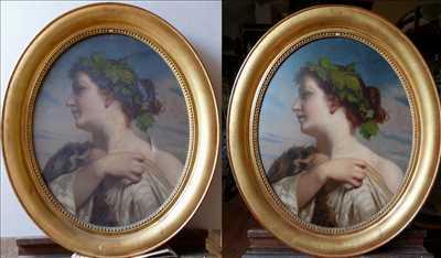 Photo de restauration de tableau ancien n°2083 dans le département 76 par Atelier du regard