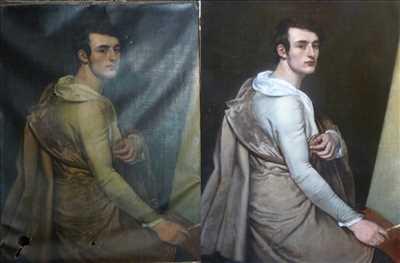 Exemple de restauration de tableau ancien n°2085 à Rouen par Atelier du regard
