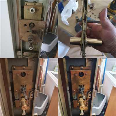 Exemple de réparation de porte d'entrée et de serrure n°2645 à Saint-Cloud par Idsv maintenance