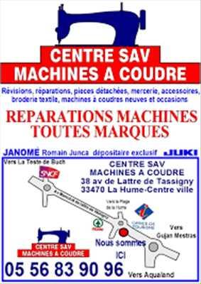 Photo de réparation de machine à coudre électrique et électronique n°2787 dans le département 33 par Centre sav machines a coudre