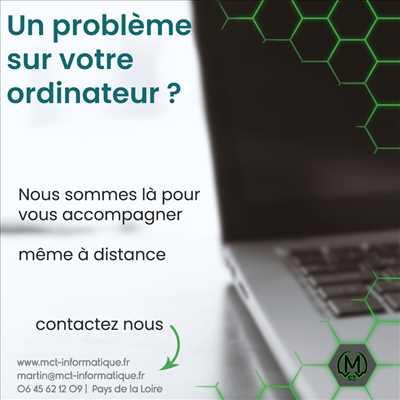 Exemple de réparation d'ordinateur n°3037 à Chemillé-en-Anjou par MCT INFORMATIQUE