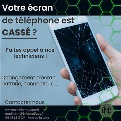 Photo de réparation de téléphone n°3038 à Chemillé-en-Anjou par le réparateur MCT INFORMATIQUE