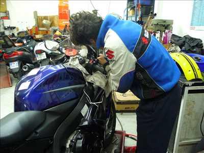 Photo de réparation de moto n°3046 à Paris 18ème par le réparateur moto champion