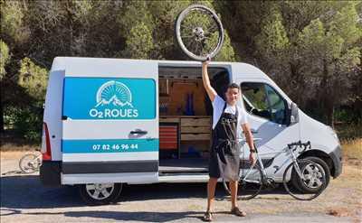 Photo de réparation de vélo n°3426 à Grasse par le réparateur O2 Roues - Atelier vélo mobile