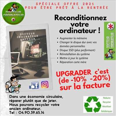 Exemple de réparation d'ordinateur n°3617 à Avignon par Dr Ordinateur Avignon