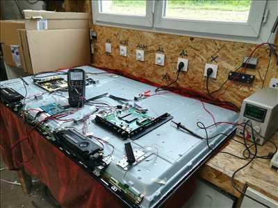 Photo de réparation de télévision n°3814 à Lodève par le réparateur PROELEC34