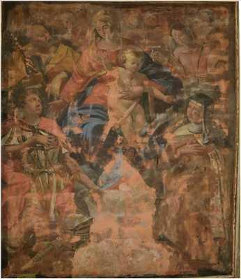 Photo de restauration de tableau n°4044 à Tassin-la-Demi-Lune par REGLES DE L'ART Restauration et Décoration