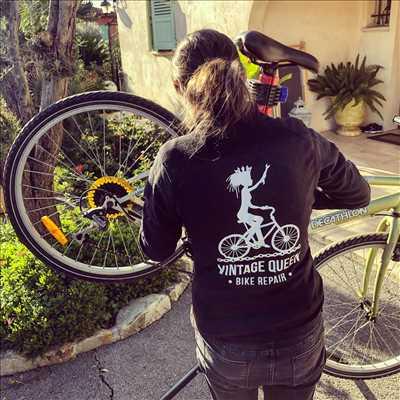 Photo de réparation de vélo n°452 à Nice par Vintage Queen Bike Repair