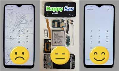Exemple de réparation de smartphone n°89 à Reims par Happy Sav